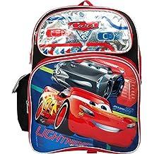 "Backpack - Disney - Cars 3 - McQueen Big Race Silver 16"" 106140"