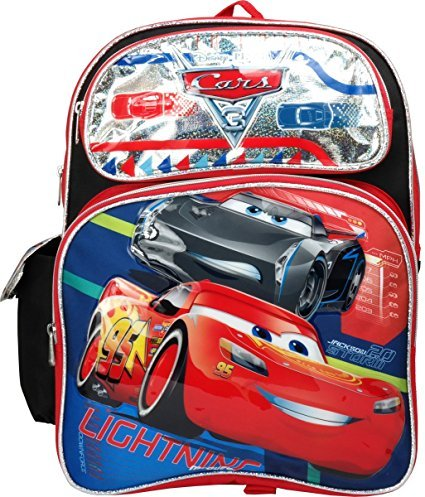 "Price comparison product image Disney Pixar Cars 3 Large 16"" Backpack (Black)"