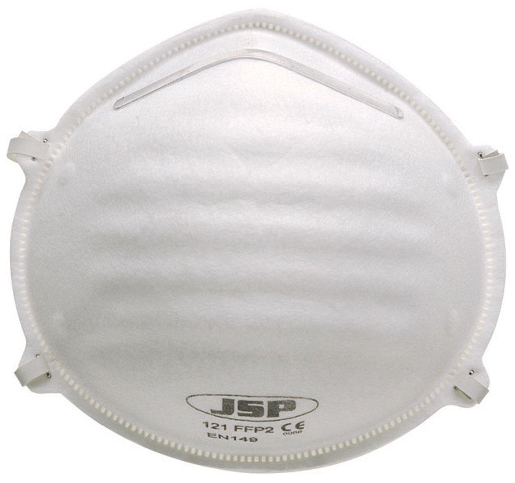 JSP BEJ120-001-000 Moulded Disposable Dust Mask FFP2 (Pack of 20) AutoMotion Factors Limited
