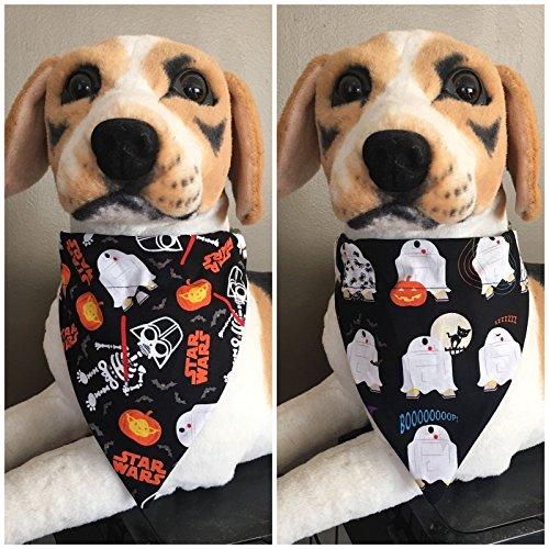 Halloween Reversible Pet Bandana Star Wars R2-D2 Yoda Darth Vader Over The Collar Dog Cat (Star Wars Dog Collar)