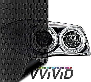 12 x 48 2-Roll Pack VViViD Smoke Black Adhesive Headlight Wrap Wet Tinting Vinyl 17.9 Inch x 48 Inch Roll