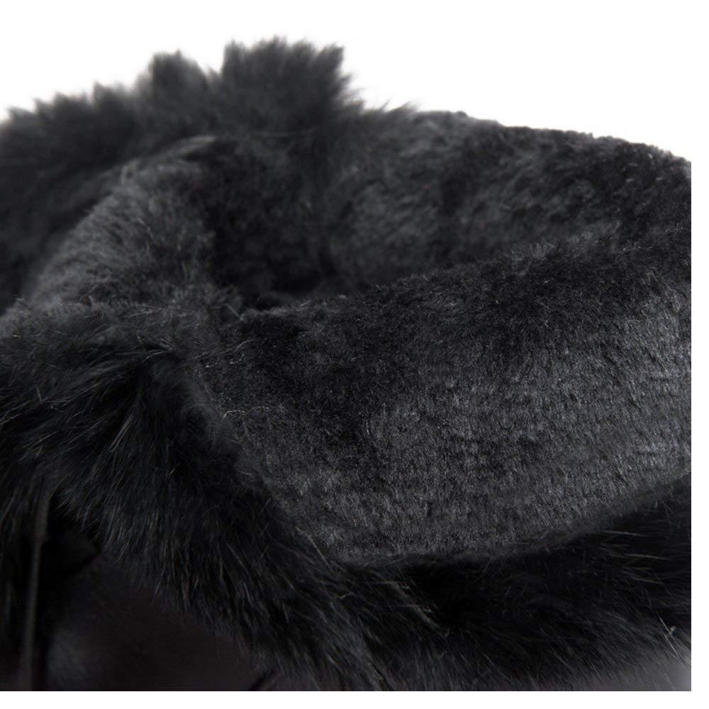 ZHRUI Frauen warme gefütterte gefütterte gefütterte Stiefel Versteckte Ferse c9c6b3