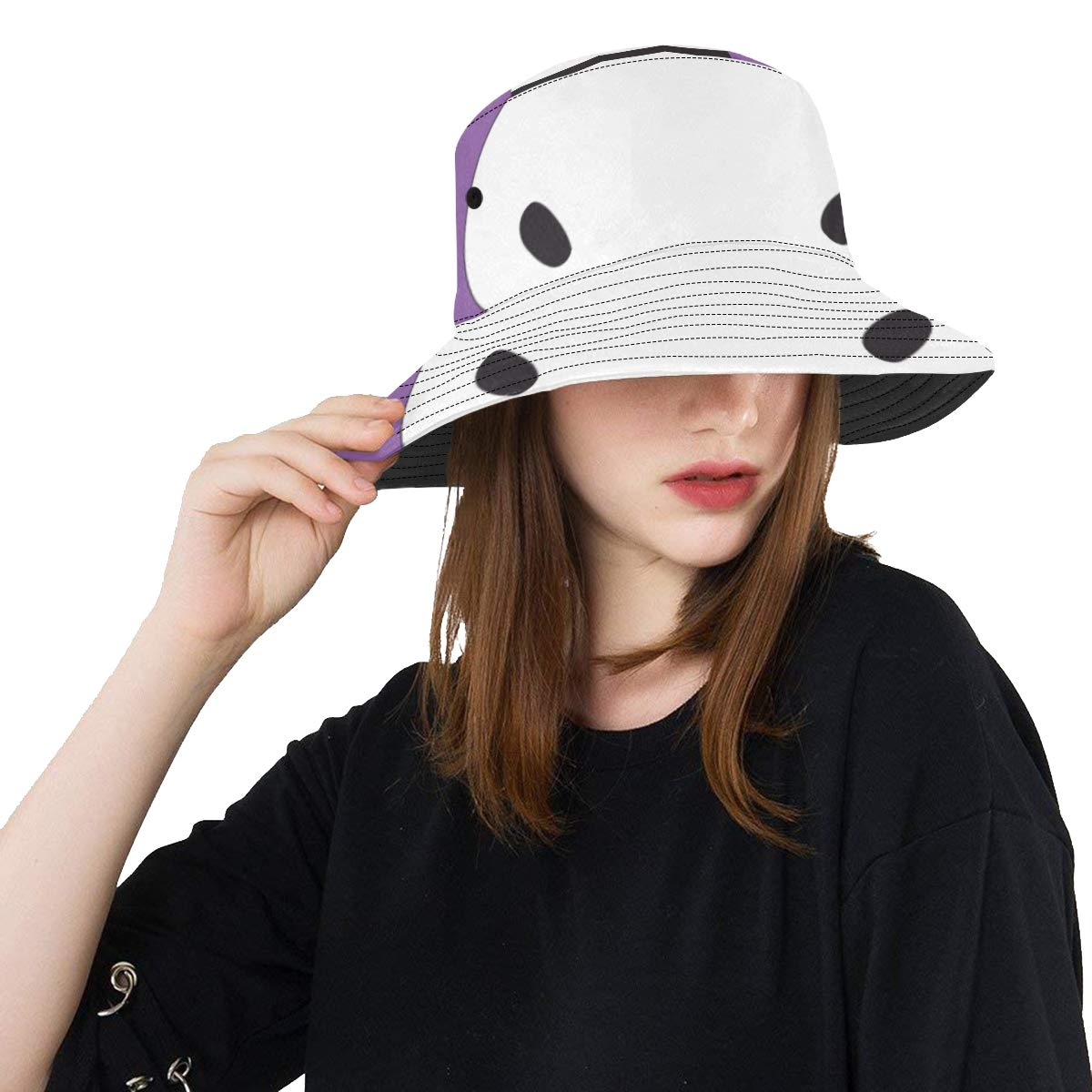 Hippo Cartoon New Summer Unisex Cotton Fashion Fishing Sun Bucket Hats for Kid Teens Women and Men with Customize Top Packable Fisherman Cap for Outdoor Travel