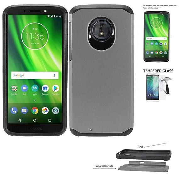 more photos 96aab d8552 Amazon.com: Phone Case for Straight Talk Motorola g6 prepaid ...