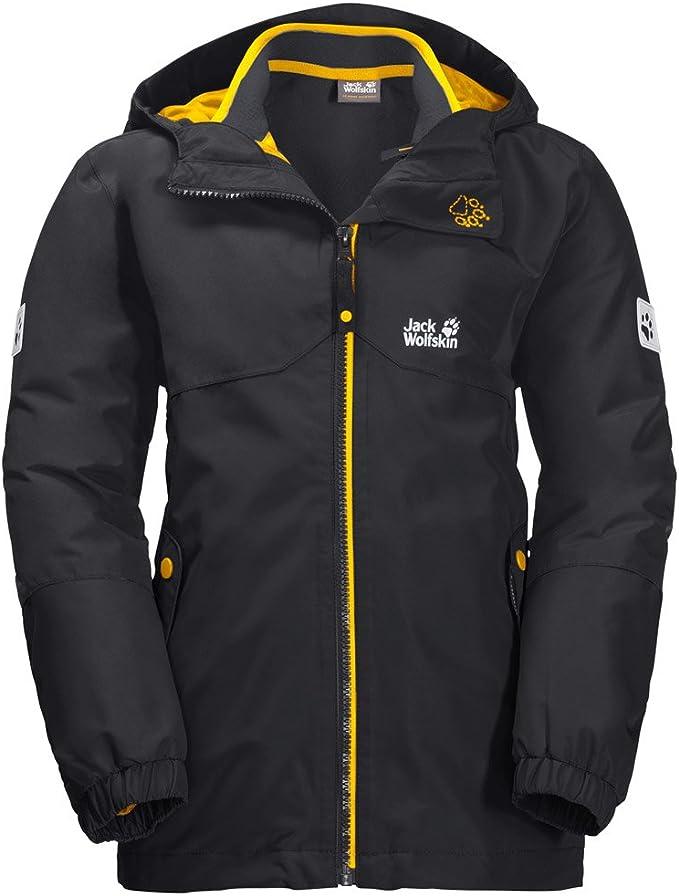 Jack Wolfskin B ICELAND 3IN1 JKT, wasser und winddichte Outdoor Jacke, Winterjacke für Jungen mit warmer Fleece Innenjacke, robuste Regenjacke für