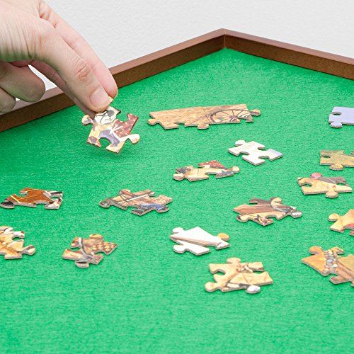 Bits and Pieces - Square Jigsaw Puzzle Spinner - Puzzle Accessories- Lazy Susan Puzzle Table Surface Fits 1500 pc Puzzles - Spin Puzzle to Reach Sections You Need by Bits and Pieces (Image #2)