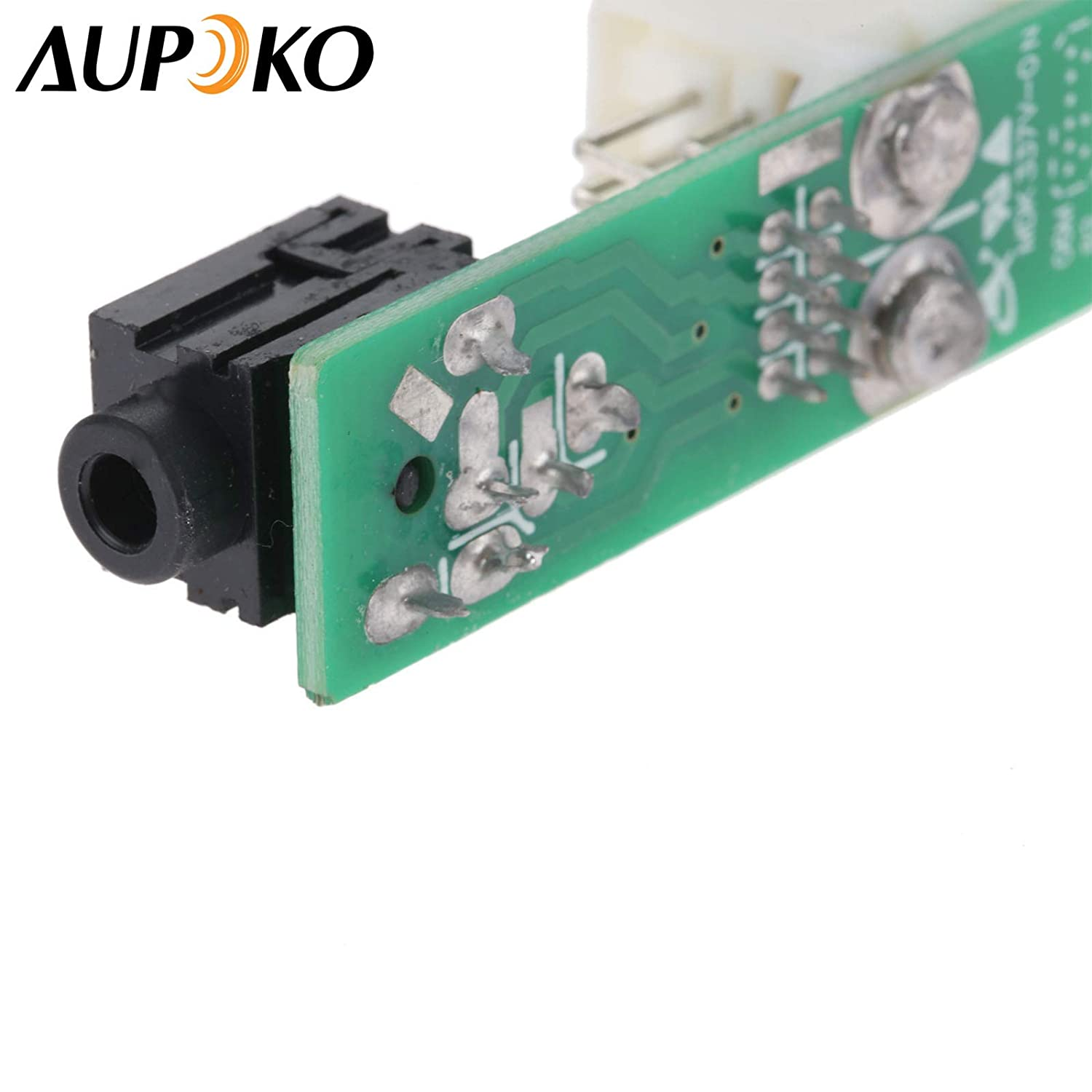 Aupoko 86190-02010 86190-02020 Aux Stereo Adapter Auxiliary Input Jack Replacement Audio Assembly Fits for Toyota Tundra Radio Camry Matrix Corolla Tacoma Highlander RAV4 Sienna