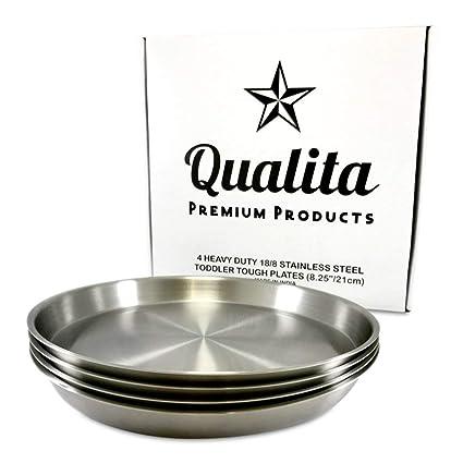 lavavajillas 23 cm-ideal para camping y para tiendas de campaña Acero inoxidable plato