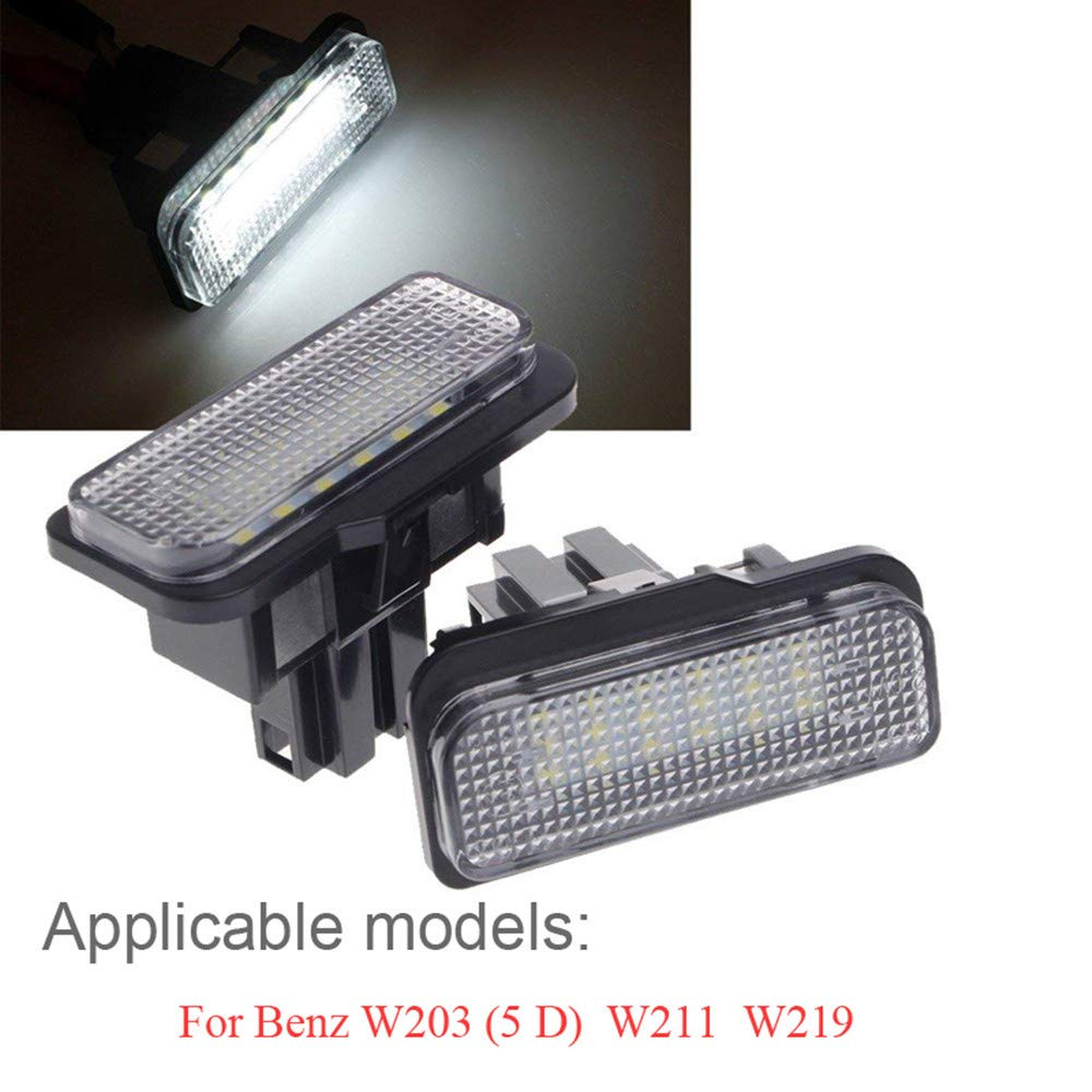 License Plate Lights BENZ W204(5D ZHANGNA 2 Pieces Car LED Number Plate License Plate Lights