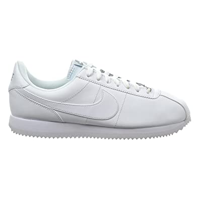 NIKE Cortez Basic Leather Men's Shoes White/Wolf Grey/Metallic Silver  819719-110