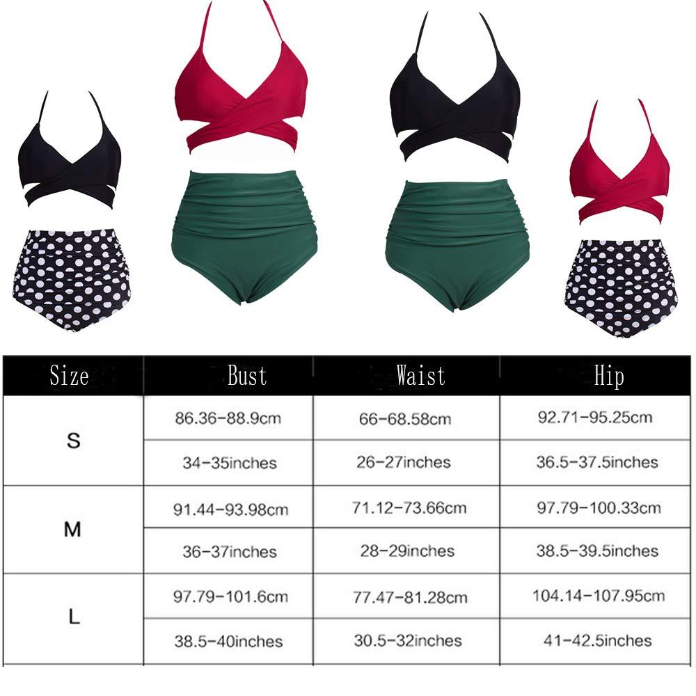 Eomenie Damen Bikini Sets Push up Zweiteilige Badeanzug Damen Blau Bademode Gro/ße Gr/ö/ße S 2XL