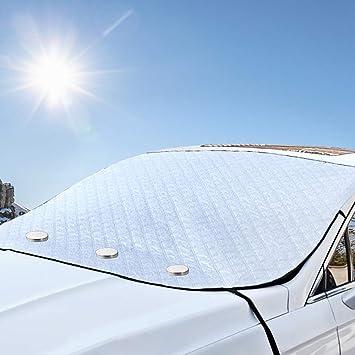 Amazon.es: Protector Parabrisas Cubierta de Nieve MATCC Ventana Parabrisas Magnético para Coche Protección UV y contra el Polvo, con Dos Orejas ...