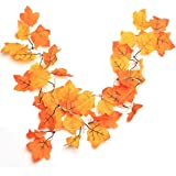 Fall Garland with Lights - Maple Leaf String Lamp for Thanksgiving Decoration, Maple Leaf String Lights 16.4 Feet 40 LED, Thanksgiving Gift