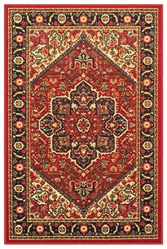 Rubber Backed Mat 18 Quot X 31 Quot Red Persian Medallion Doormat