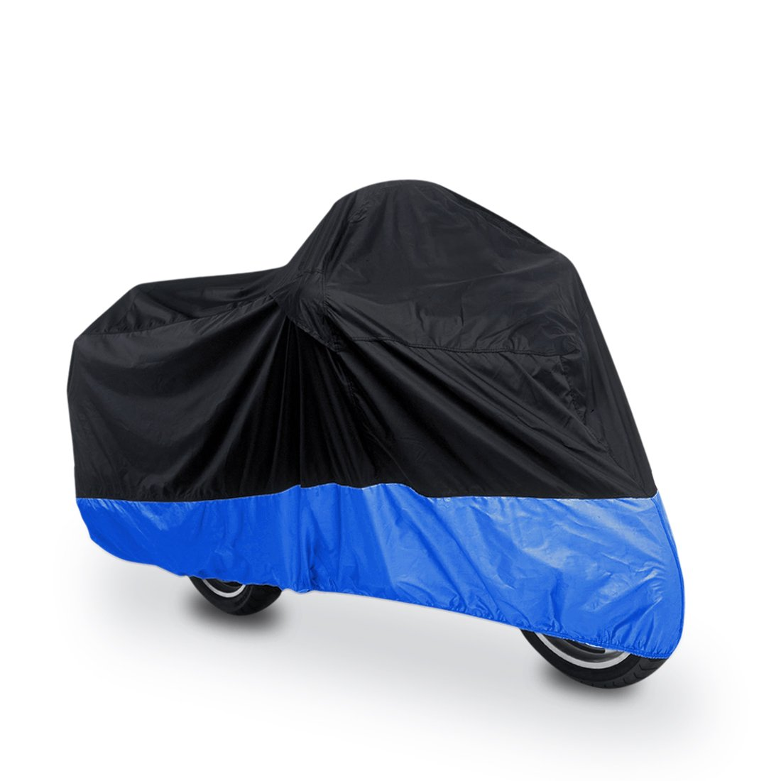 uxcell L 180T Rain Dust Protector Black+Blue Scooter Motorcycle Cover 86'' Fit to Honda Victory Kawasaki Yamaha Suzuki Harley Davidson