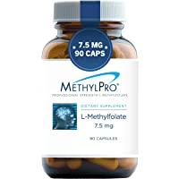 MethylPro 7.5mg L-Methylfolate (90 Capsules) - Professional Strength Active Methyl...