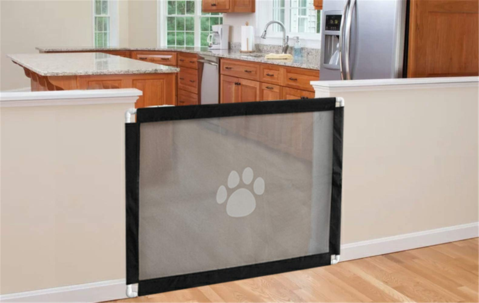 Magic Gate for Dog,Strong Pet Gate Portable Folding Safe Guard Install Anywhere for Pet Safe,Pet Isolation Fence Net by Y&Z (Image #6)