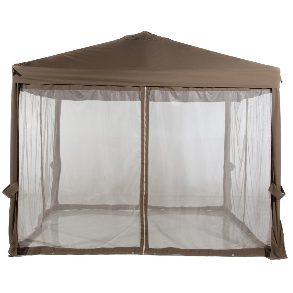 Abba Patio Mosquito Netting Screen Walls for 10x10 Feet Gazebo Canopy, (Top Cover and Frame not Include)