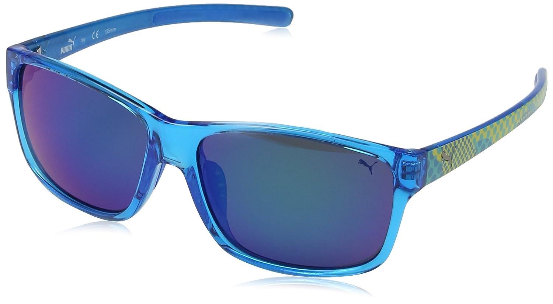 Puma PU15130 Gafas de Sol, Blau-Ice Blue, Talla única para ...