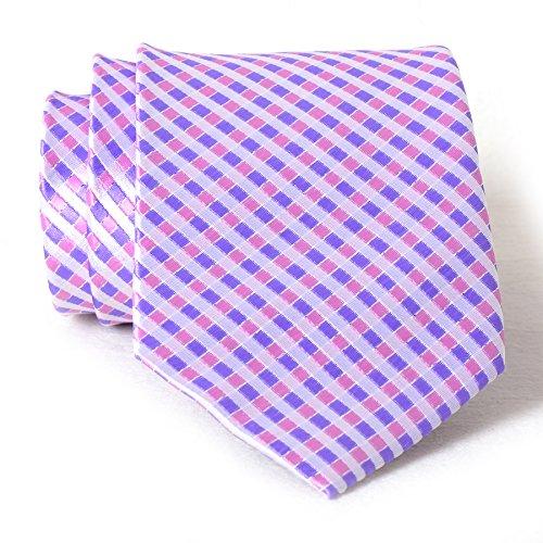 Plaid Check Textured Woven Microfiber Men's Tie Neckties