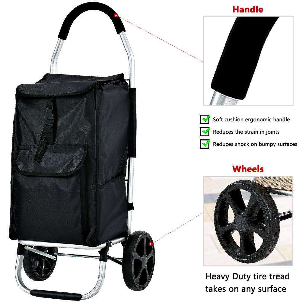Amazon.com: FORUP - Carrito de la compra con ruedas ...