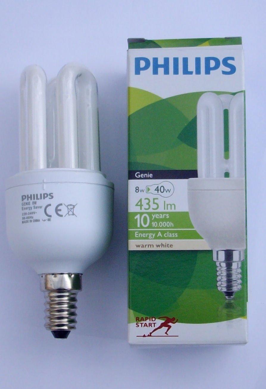 Philips Genie Low Energy Saving Light bulb 8w u0026 40W equivalent SES E14 Screw Cap Fitting 3u Stick 10 Year Lifespan 1 Pack Amazon.co.uk Kitchen u0026 Home & Philips Genie Low Energy Saving Light bulb 8w u0026 40W equivalent SES ... azcodes.com