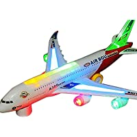 Blossom Aeroplane A380 with Sound & Light/ Airbus A380 with Sound Effect & Light for Kids , Babies/ Battery Operated Aeroplane (Batteries Not Included)