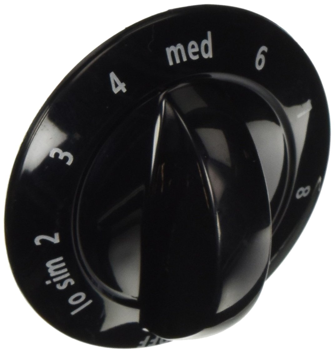 318196634 Frigidaire Range Knob, Control, Black