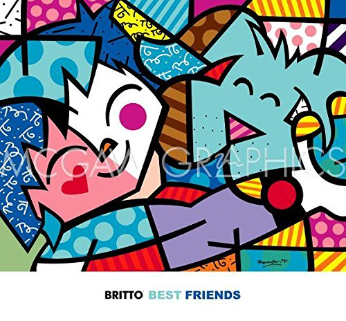 Bruce McGaw Best Friends by Romero Britto 28