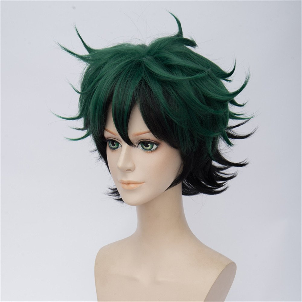 LanTing Cosplay Peluca My Hero Academia Brown Short Styled Woman Cosplay Party Fashion Anime Human Costume Full wigs Synthetic Cabello Heat Resistant Fiber: ...