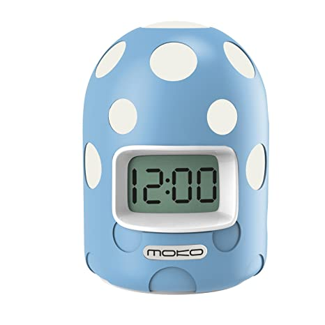 MoKo Despertador Digital con Alarma, Alta Precisión Mini Pantalla LCD Reloj para Niños Viaje Cabecera