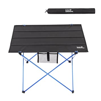 Camp Solutions Foldable Camping Picnic Tables   Portable Compact  Lightweight Folding Roll Up Table In