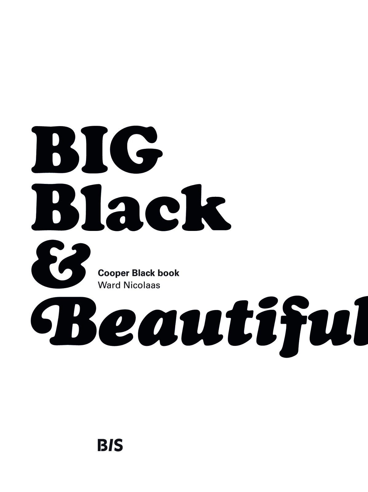 Big Black & Beautiful: Cooper Black Book