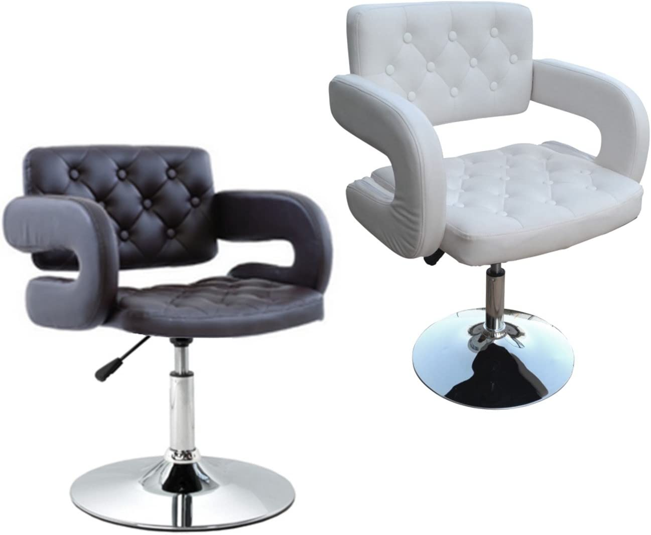 Sillón taburete giratorio elegante de piel sintética para casa, oficina, vestíbulo, hotel, sala de espera, con...