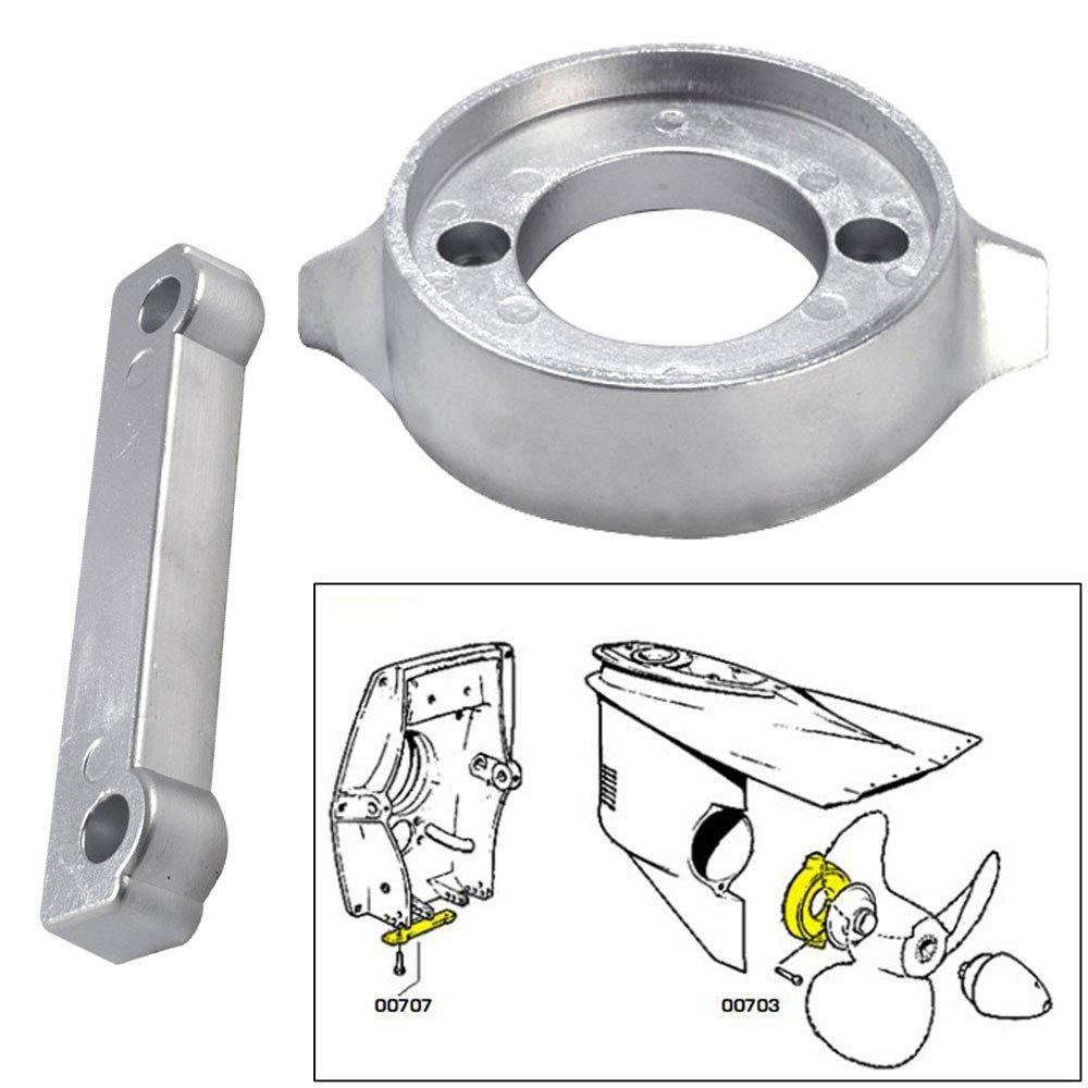 Tecnoseal Anode Kit w/Hardware - Volvo 280 - Magnesium