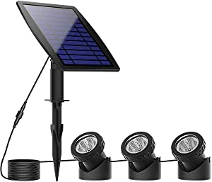 WONFAST Solar Pond Lights, Waterproof Outdoor 18leds Solar Underwater Security Night Light Submersible Lamps Landscape Spotlights for Garden Pool Garden Pathway Fountain Decoration (Warm White)