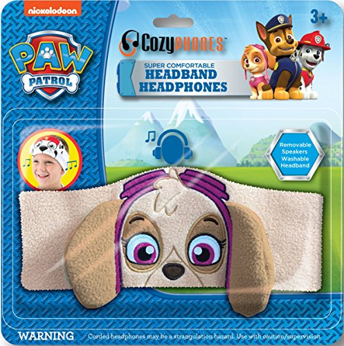 Paw Patrol Kids Headphones by CozyPhones - Volume Limited with Ultra-Thin Speakers & Comfortable Soft Fleece Headband - Perfect Children's Earphones for School, Home and Travel – SKYE Photo #7