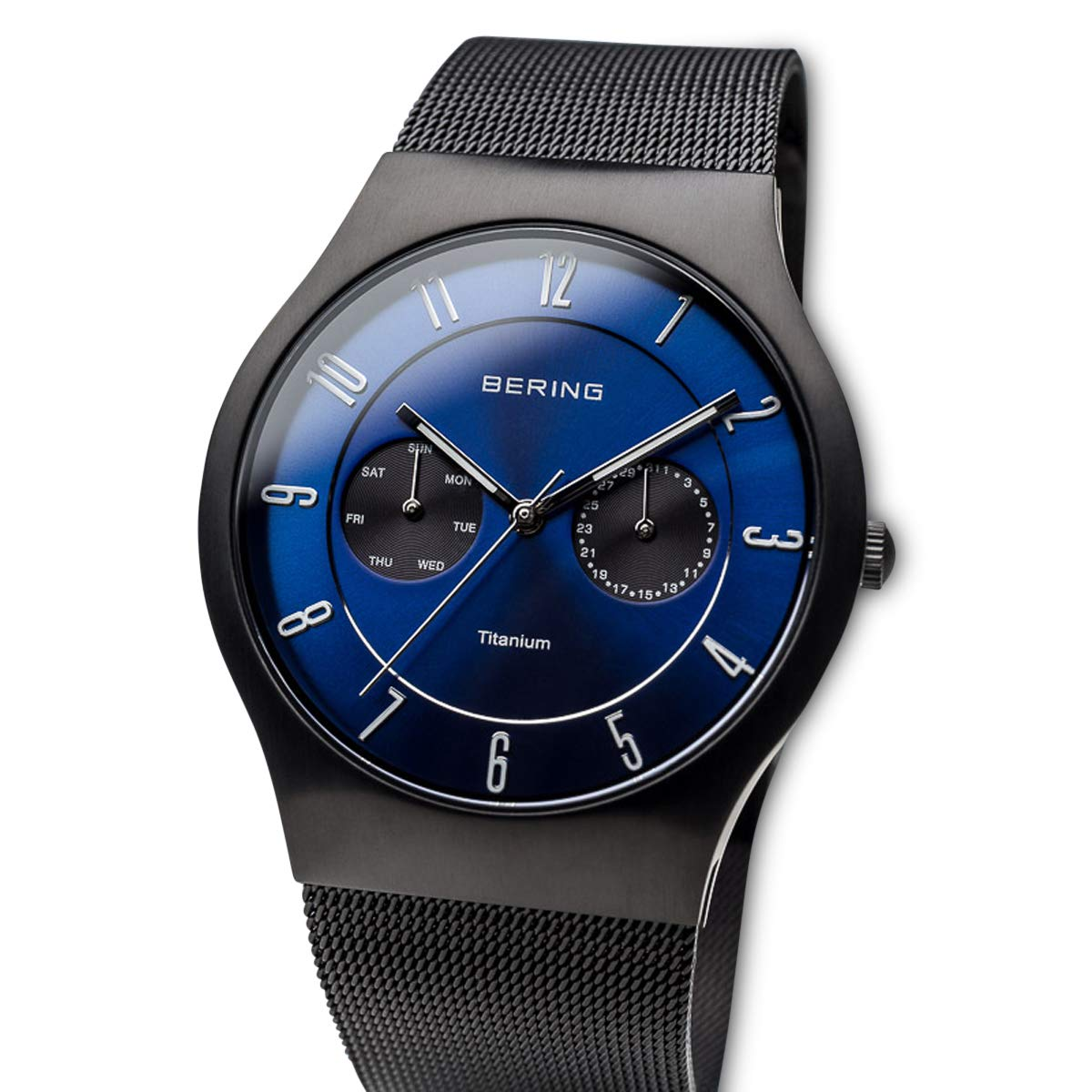 BERING Reloj Analógico para Hombre de Cuarzo con Correa en Acero Inoxidable 11939-078: Amazon.es: Relojes