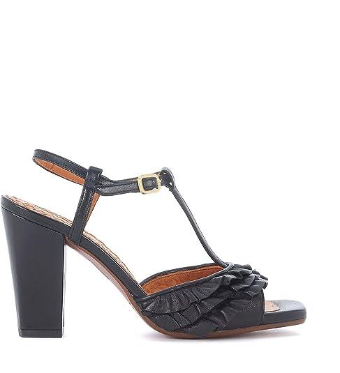 Sandalo Mihara Scarpe Chie Con it Borse E Pelle Brunella Amazon Rouches Nera In Tacco Hgnqx5Rn4w