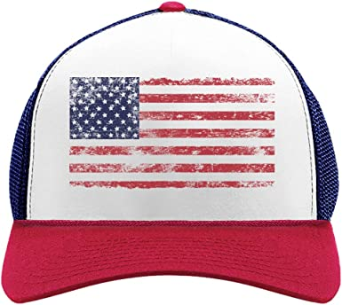 USA Flag Hat Red Distressed