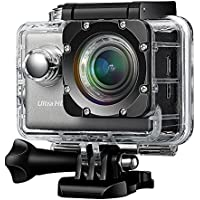 Difini Action Camera 4K WiFi Ultra HD Waterproof Sport Camera 2.0 Inch LCD Display DV Camcorder 12MP