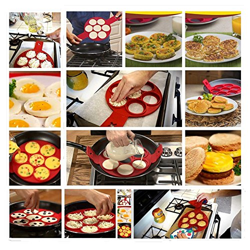 Joyous Journey Pancake Mold Set, 6-Pack Food-grade Non Stick Silicone Egg Mold Ring (6 different shapes) by Joyous Journey (Image #5)