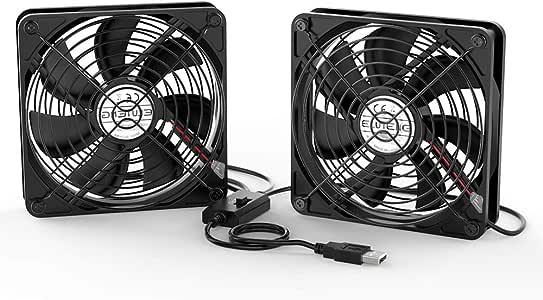 ELUTENG Ventilador USB Doble 12cm Fan Portatil 5V 0.3A Ventilador ...