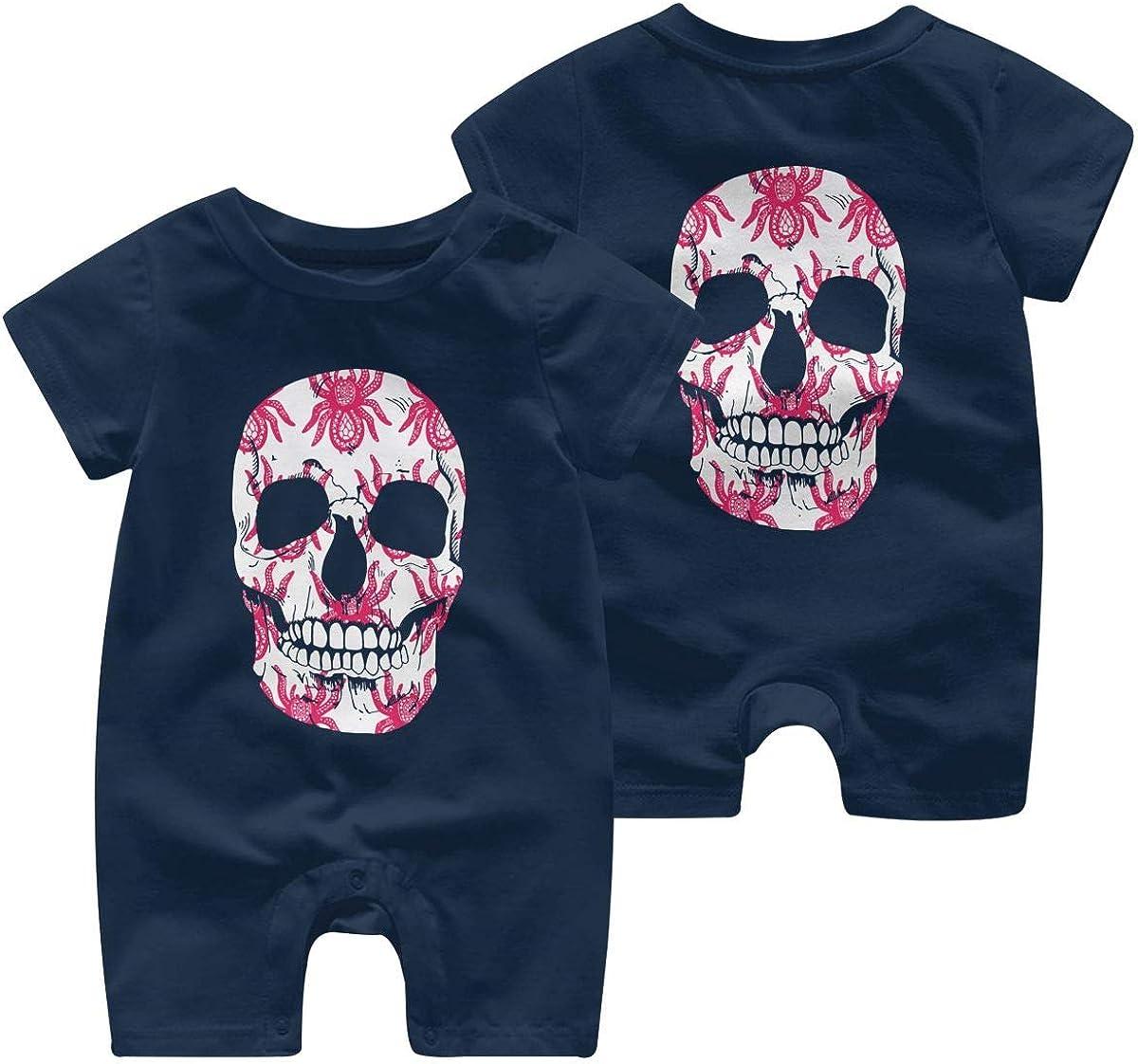 Baby Boy Girl Organic Coverall Sugar Skulls Art Kid Pajamas