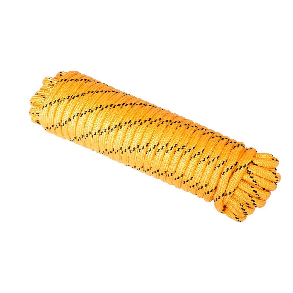 Wasons W104-2Y Diamond Braided Utility Rope, 1/2-Inch x 100-Foot, Yellow
