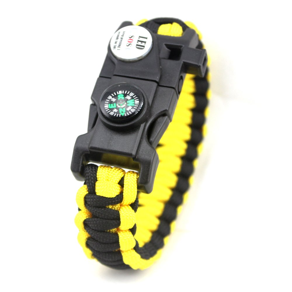YAZILIND Survival wristband LED with compass Fluerstein Whistle Unisex (Yellow) YAZILIND JEWELRY LTD 1701B0266/CA