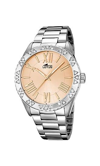 Lotus - Reloj de Pulsera analógico para Mujer Cuarzo Acero Inoxidable 15991/2: LOTUS: Amazon.es: Relojes