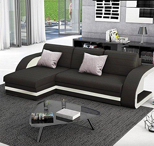 muebles bonitos sof cama hilda con chaise longue universal negro con blanco amazones hogar