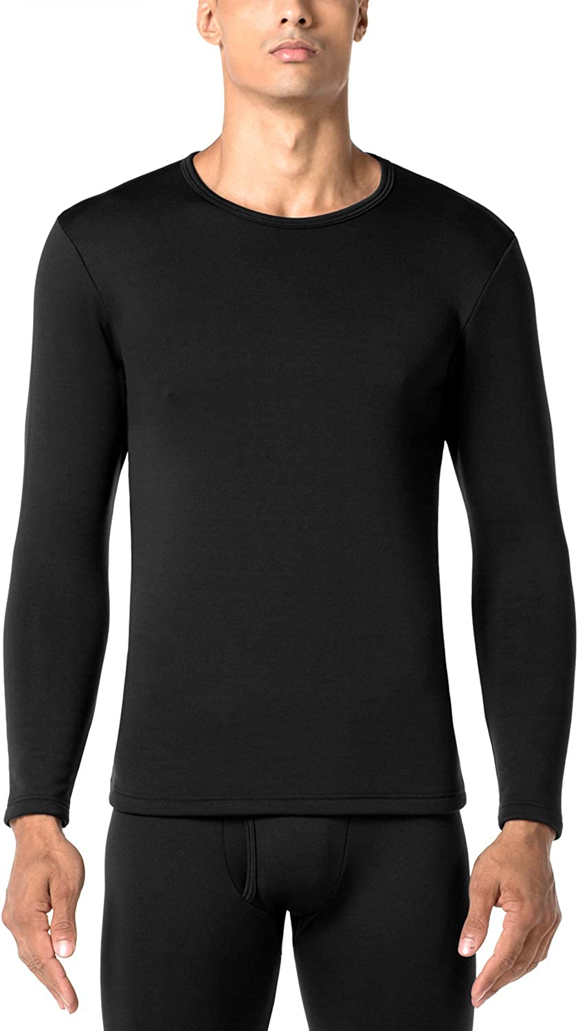 LAPASA Men's Heavyweight Thermal Underwear Top Fleece Lined Base Layer Long Sleeve Shirt M26 at  Men's Clothing store