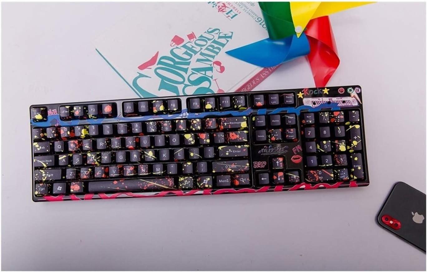 Axis Body : OEM Profile, Color : 60 Keys no Printed Keyboard keycaps 1 Set of 60//87//104 Key Obsidian Style PBT Dye Sublimation Keycap Mechanical Keyboard MX Key Cap